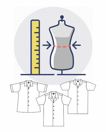 size measurement_lab coat